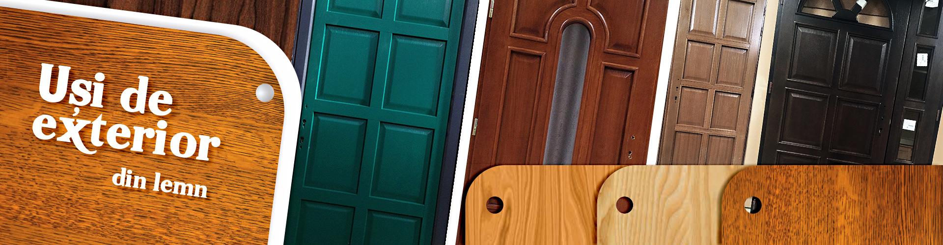 usi de exterior din lemn